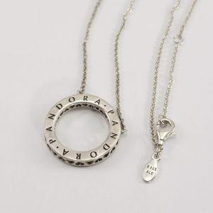 Pandora Circle of Sparkle Logo Necklace